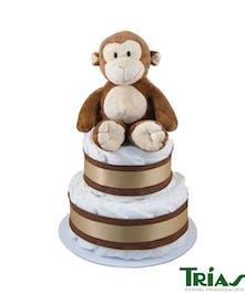 Daiper cake with plush monkey