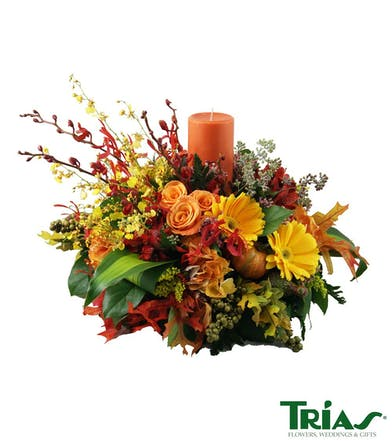 Fall themed centerpiece