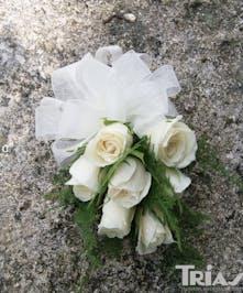Corsage White Spray Roses