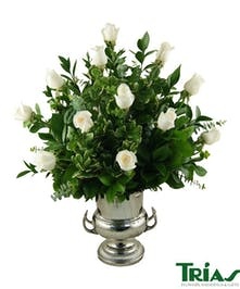 Wine Cooler - 1 Dz White Roses