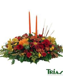 Harvest Time Centerpiece Trias Flowers Miami Fl
