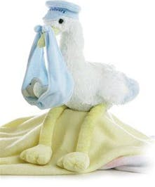 Aurora Special Delivery Blue Stork & Bear