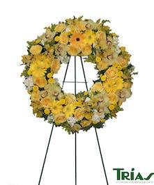 Sunshine Wreath with sunflowers