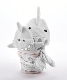 This 4-piece shark set was made for cuddles!