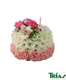 Best Wishes Flower Cake