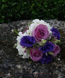 Junior Bqt White, Lavender & Purple