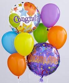 Birthday or New Baby Balloon Bouquet Basket