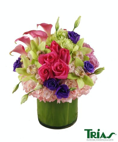 Mixed flower romantic bouquet
