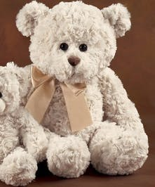 Adorable white higgles bear from the Bearington Bear Collection