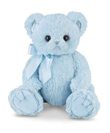 Stuffed blue bear to celebrate the birth of a new baby!