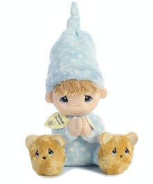 Blue Prayer Boy Doll