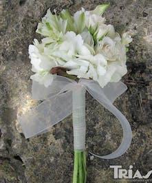 Junior Bouquet White Roses Hydrangeas Astromerias