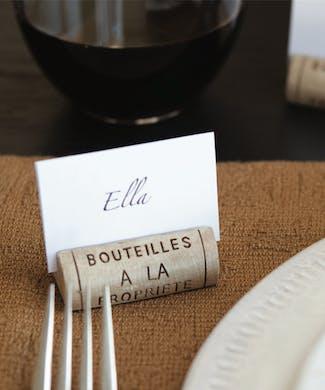 Wine Cork Place Card Holder Set