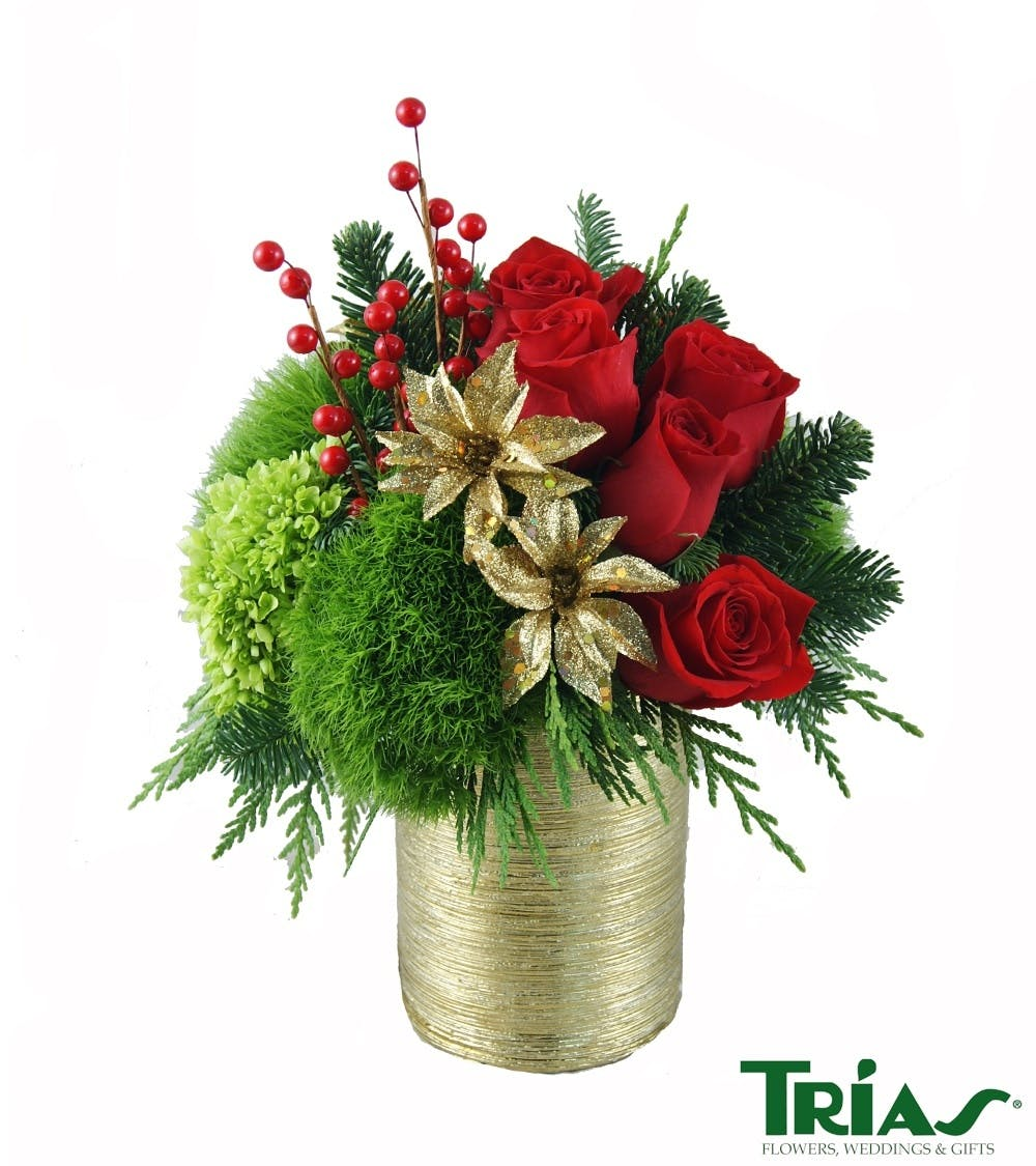 Holiday tidings christmas flowers miami fl flower delivery izmirmasajfo