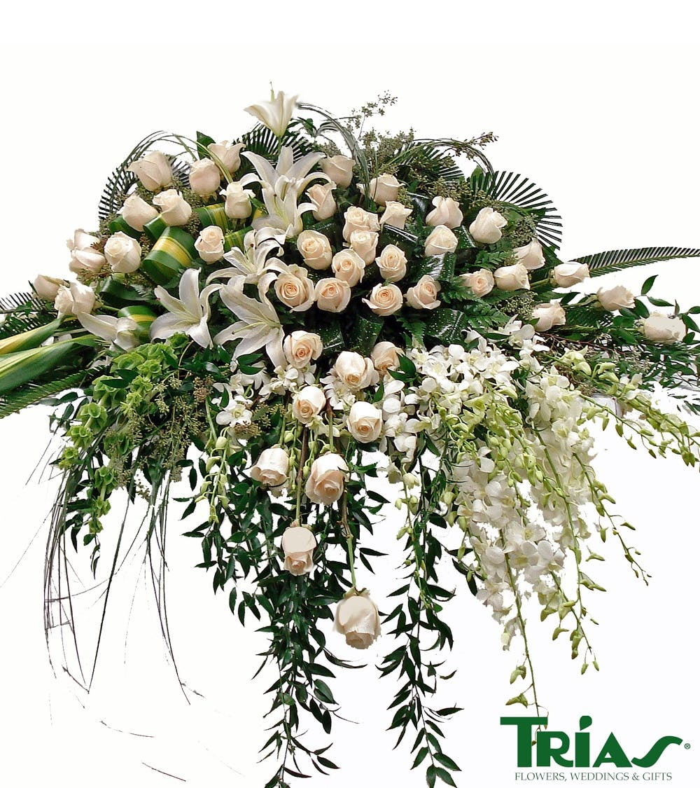 Miami florist casket sprays for the funeral izmirmasajfo