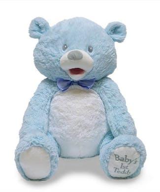 Cuddle Barn Baby First Singing Teddie - Blue