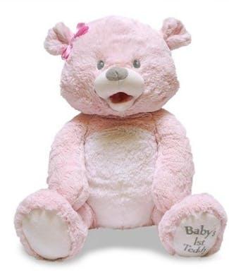 Cuddle Barn Baby's First Singing Teddie - Pink