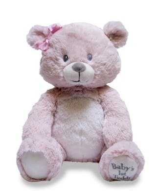 Cuddle Barn Baby's First Lullaby Teddie - Pink