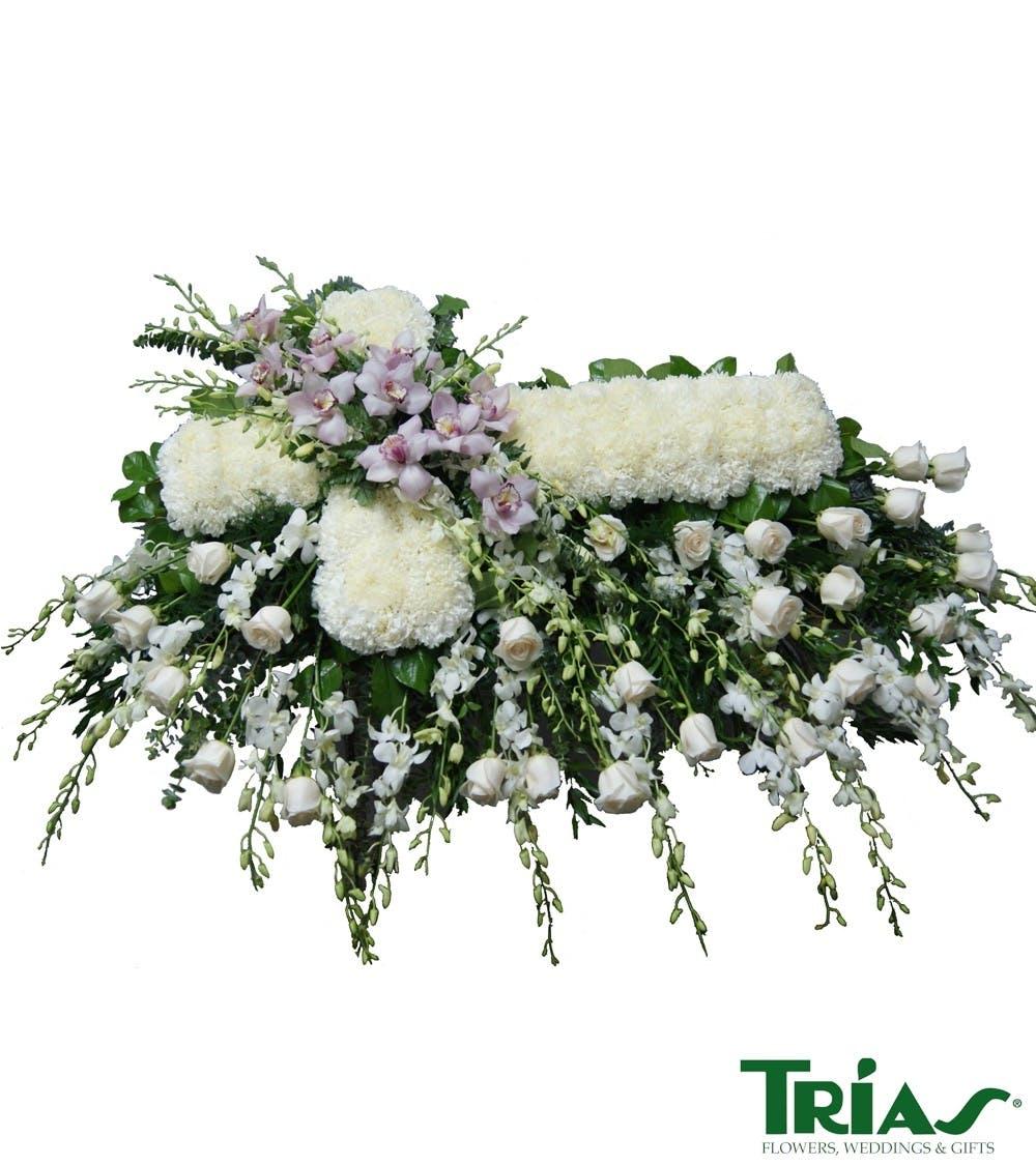 Miami florist funeral cross casket spray izmirmasajfo
